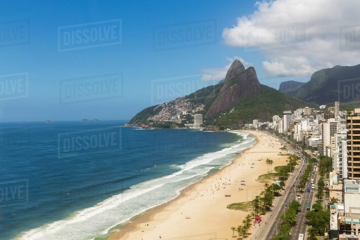 View Of Ipanema Beach Rio De Janeiro Brazil