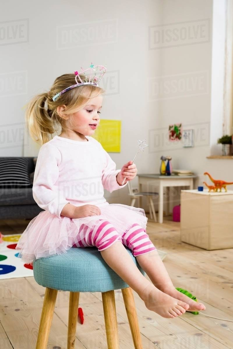 Girl playing fairy princess Royalty-free stock photo