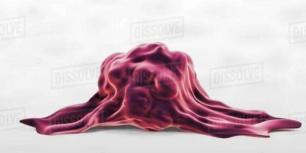 3D illustration of a highly invasive tumor cell Royalty-free stock photo