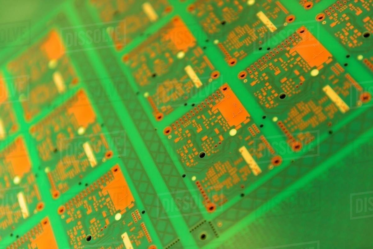Circuit Board Detail In Factory Stock Photo Dissolve Electronic Boards Assembly Royalty Free Image