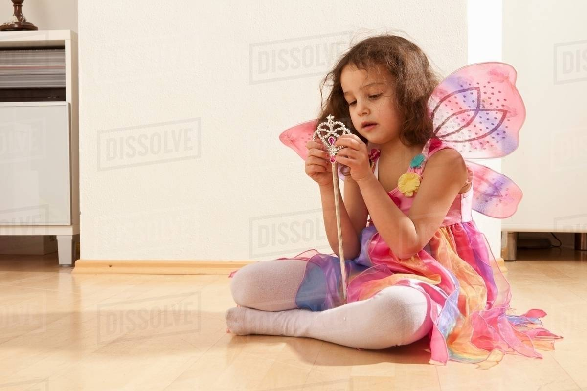 Girl with fairy wings Royalty-free stock photo