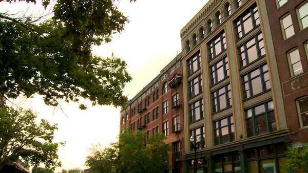 Apartment Lofts In Ornate Old Buildings With Brick Streets The Charming City Of Omaha