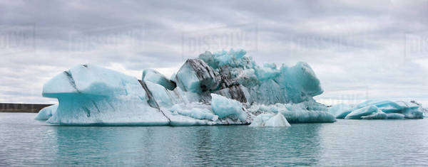 Icebergs in Jokulsarlon glacial lagoon, Iceland Royalty-free stock photo