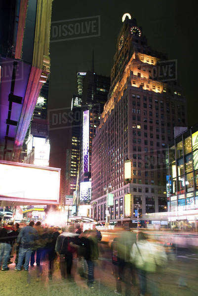 Nightlife scene on Broadway near Times Square in New York City Royalty-free stock photo
