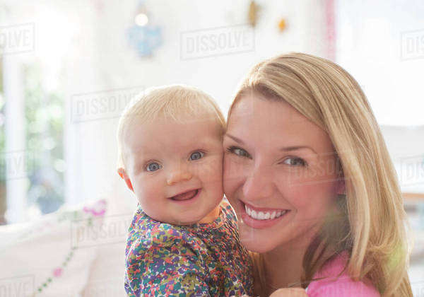 Mother holding baby girl Royalty-free stock photo