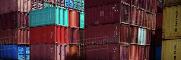 Stacked cargo containers Royalty-free stock photo