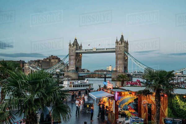 Tower Bridge, London, United Kingdom Royalty-free stock photo