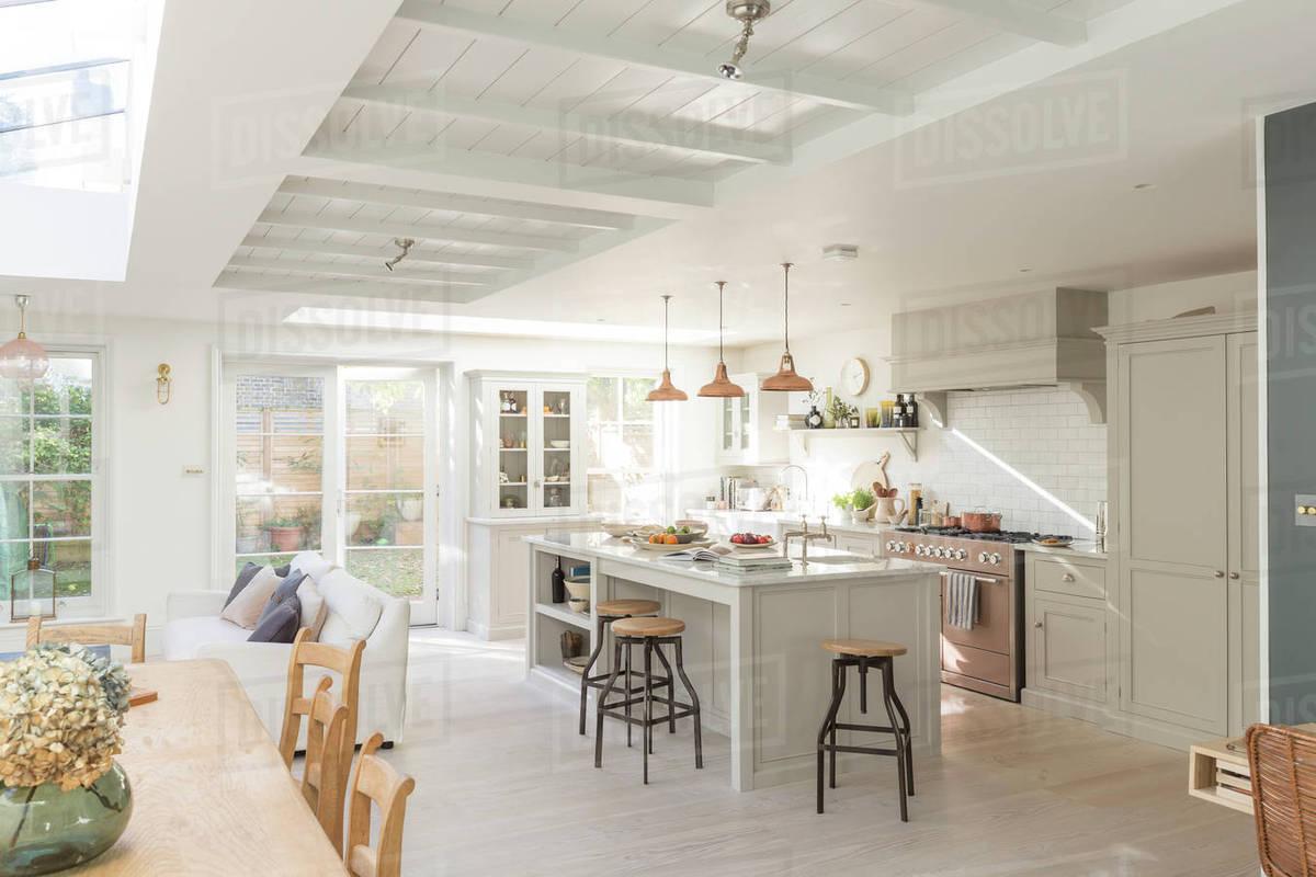 Luxury Home Showcase Kitchen Stock Photo Dissolve