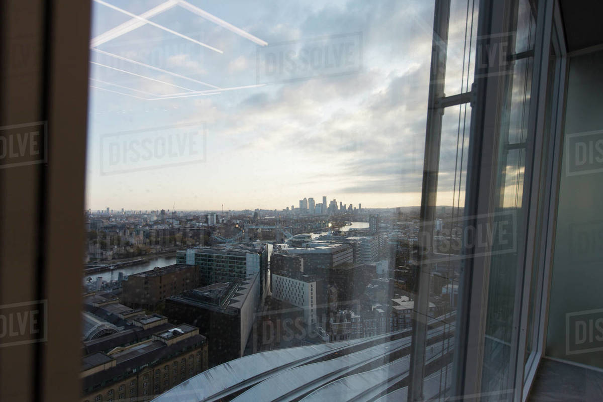 Cityscape view from highrise office building Royalty-free stock photo