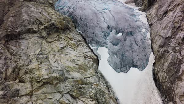 Aerial shot of glacier in Norway Royalty-free stock video