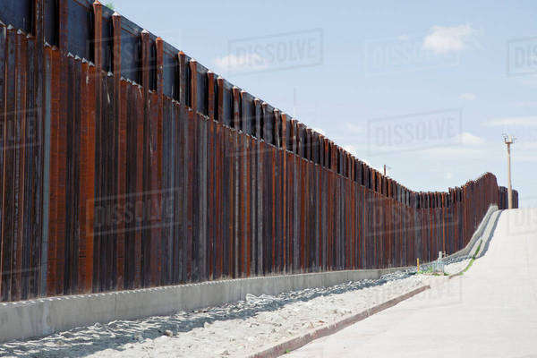 Barrier fence in Nogales, Arizona Royalty-free stock photo
