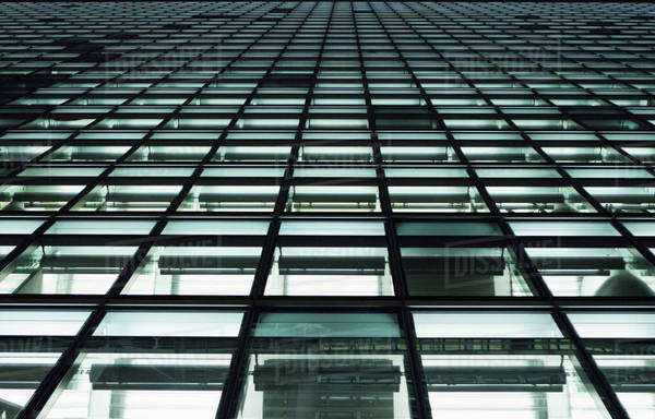 Full frame, close-up of office building windows Royalty-free stock photo